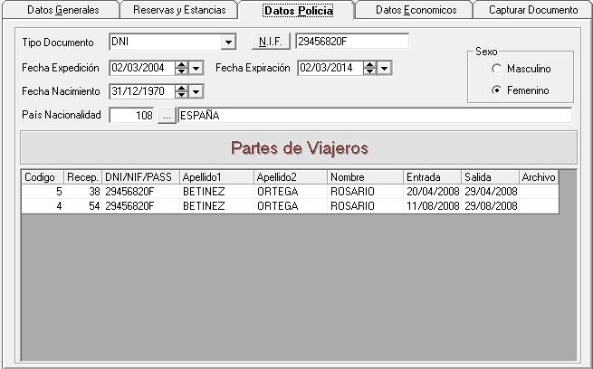 Datos Ficha Policial