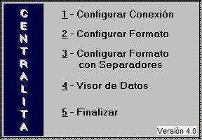 Configuración Centralita