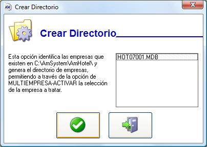 Crear Directorio
