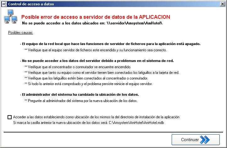 Error Acceso Datos