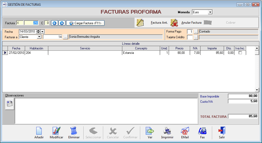 pro forma software
