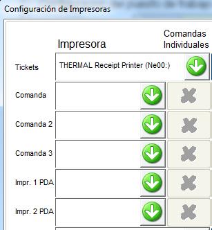 Configuración impresoras