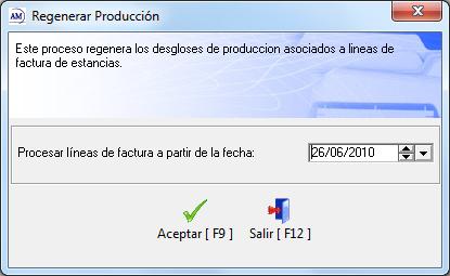 Regenerar Producción