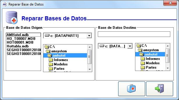Reparar base de datos