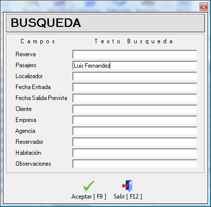 Buscar Reserva