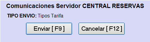 Reservas online Tarifas
