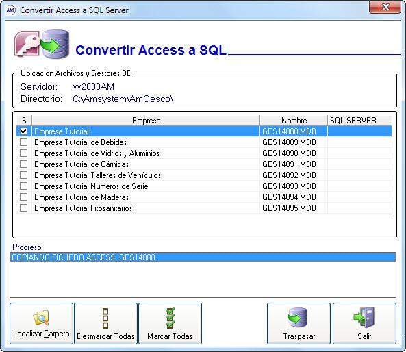 Convertir de Access a SQL Server