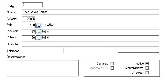 Ficha de Empleados